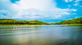 Reservoir in loei thailand for relaxation Royalty Free Stock Images