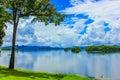 Reservoir pompi s in kanjanaburi thailand Royalty Free Stock Photo