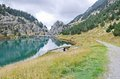Reservoir of Vall de Nuria Royalty Free Stock Photo