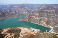 Reservoirs scenery the landscape of fenhe in shanxi china Royalty Free Stock Image