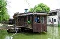 Residence boat from ancient town that fishermen living inside xitang view jiashan county jiaxing city zhejiang province china Stock Photography