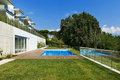 Residence with swimming pool Stock Photos