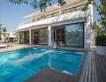 Residence with swimming pool Royalty Free Stock Photo