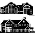 Residences building vector  Royalty Free Stock Photography