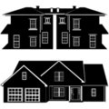Residences building vector Royalty Free Stock Image