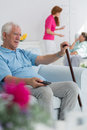 Resident of nursing home Royalty Free Stock Photo