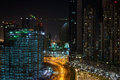 Residential area in Dubai at night Royalty Free Stock Photo