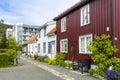Residential area ilsvikora trondheim norwegian ilsvikøra with old and modern buildings norway Stock Image