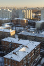 Residential area of moscow the sleeping in winter Stock Photos