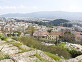 Residential area under the Acropolis, Royalty Free Stock Images