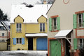Residential area in winter paris to fontenay le fleury the yvelines department Stock Image