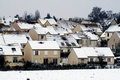 Residential area in winter paris to fontenay le fleury the yvelines department Royalty Free Stock Photo