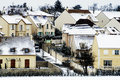 Residential area in winter paris to fontenay le fleury the yvelines department Royalty Free Stock Image