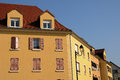 Residential block in Vaureal Stock Photography
