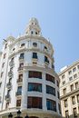 Residential building facade of a city center of valencia spain Royalty Free Stock Photos