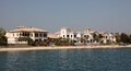 Residential buildings on Palm Jumeirah, Dubai Royalty Free Stock Photos