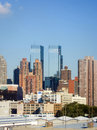 Residential buildings and Time Warner Center Royalty Free Stock Photo