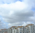 Residential Buildings under Clouds Royalty Free Stock Photography