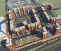 Residential complex d rendering irkutsk Stock Photos