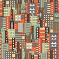 Residential district seamless pattern