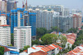 Residential downtown in Singapore Stock Image
