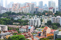 Residential downtown in Singapore Stock Photos