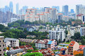 Residential downtown in Singapore Stock Images