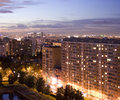 Residential Night City Stock Photos