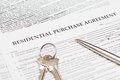 Residential Purchase Agreement Stock Photo