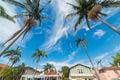 Residential street in Santa Barbara Royalty Free Stock Photo