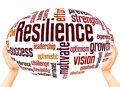 Resilience word cloud sphere concept Royalty Free Stock Photo