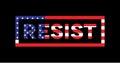 Resist Word Slogan American Flag Theme Illustration