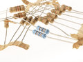 Resistors macro isolated on white Stock Photo