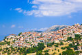 Resort of arachova on mountain parnassos greece travel background Stock Image