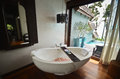 Resort bathroom spa tub fine appointed Stock Images