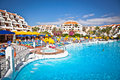 Resort in costa adeje on tenerife spain adejeon more than million tourists from uk visit every year Royalty Free Stock Photography