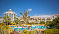 Resort in costa adeje in tenerife spain more than million tourists from uk visit every year Stock Images