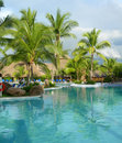 Resort in Costa Rica with pool Royalty Free Stock Photo
