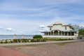 Resort hall retro building on the coast of Haapsalu town, Estoni Royalty Free Stock Photo