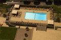 Resort hotel swimming pool overhead view of guest Royalty Free Stock Image