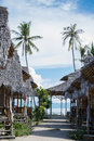Resort with huts