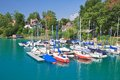 Resort krumpendorf am worthersee austria and lake worth Stock Photography