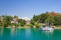 Resort krumpendorf am worthersee austria and lake worth Stock Photo