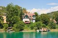 Resort krumpendorf am worthersee austria and lake worth Royalty Free Stock Images
