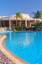 Resort with luxury swimming pool (Hurghada, Egypt) Royalty Free Stock Photo