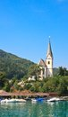 Resort maria worth church of st primus and felician austria view Royalty Free Stock Images