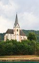 Resort maria worth church of st primus and felician austria view Stock Photo