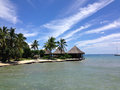 Resort in papeete live hotel when traveling of tahiti Royalty Free Stock Photo