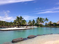 Resort in papeete live hotel when traveling of tahiti Royalty Free Stock Photos