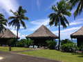 Resort in papeete live hotel when traveling of tahiti Stock Images
